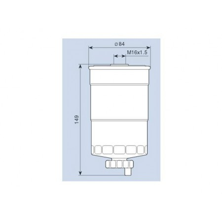 Filtr paliwa AUDI A4 A6 PASSAT 1.9 TDI 8D0127435