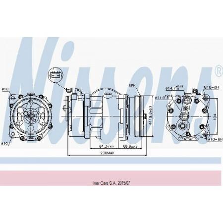 Kompresor klimatyzacji SANDEN SD7V16