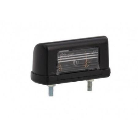 Lampa podświetlenia tablicy rejestracyjnej czarna