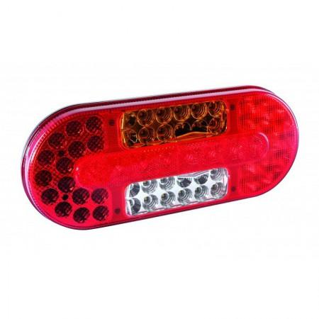 Lampa tylna 12/24 V 62 LED owalna lewa homol. ECE