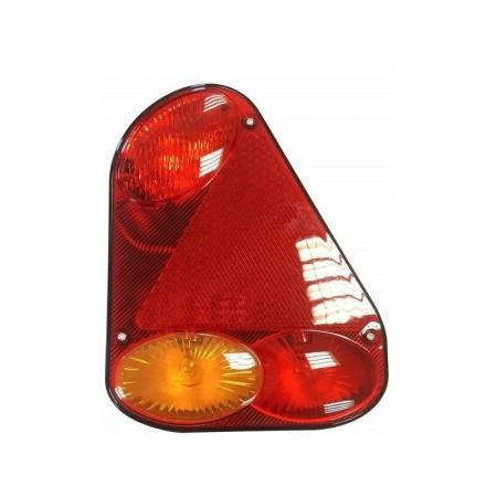 Lampa tylna z trójkątem lewa 12/24V żarówkowa