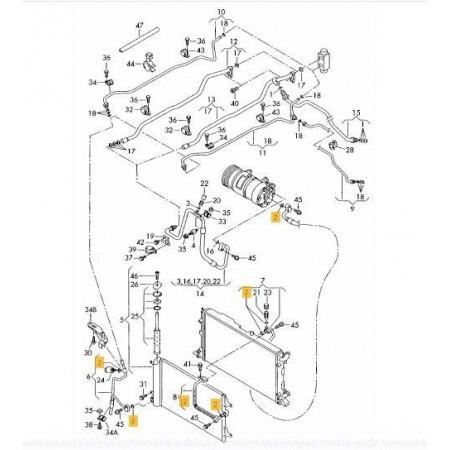O-ring układ klimatyzacji 10,8x1,82 8E0260749