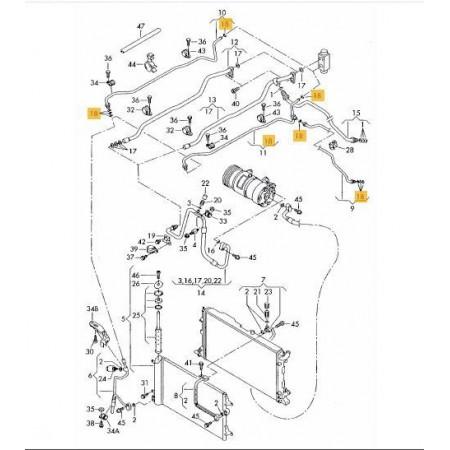 O-ring układ klimatyzacji 8,1x1,8 7M0820749B
