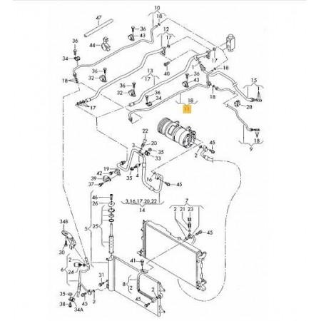 Przewód klimatyzacji VW SHARAN 7M3820729G