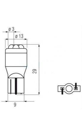 ŻARÓWKI DIODOWE 6 LED T13 12V BOSMA YELLOW
