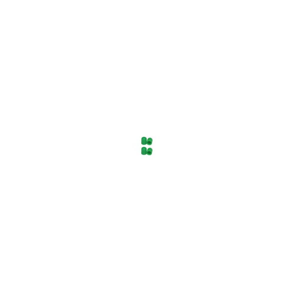 4 szt. Kapturek nakrętka zielona na wentyl koła